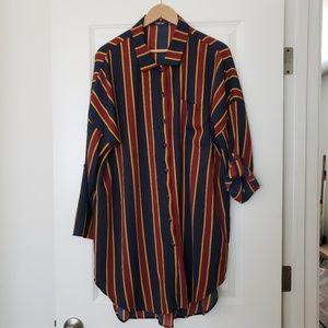 Boohoo striped tunic dress. Size 16